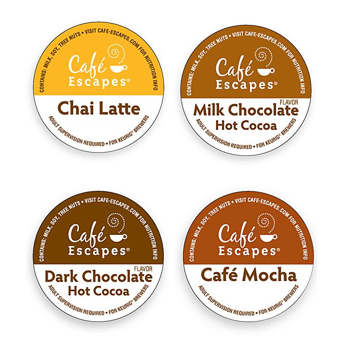Alternate image 1 for K-Cup® Gourmet Single Cup Cafe Escapes Coffee for Keurig® Brewers