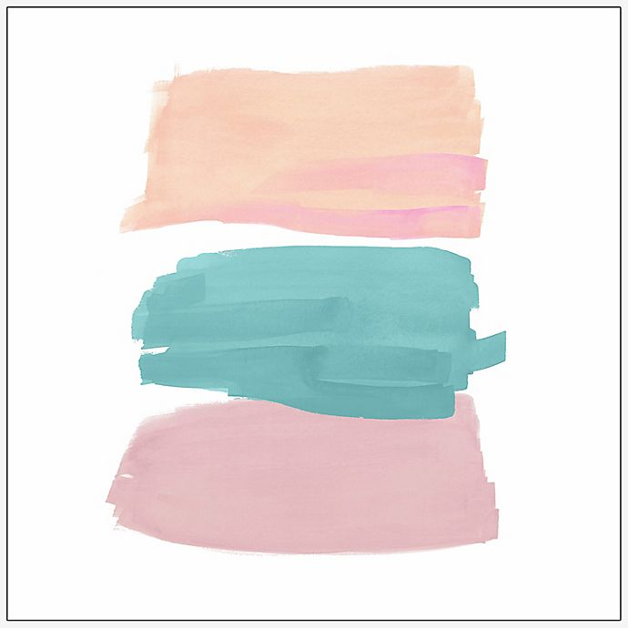 Alternate image 1 for Marmont Hill Pastels Painting 18-Inch Square Floater Frame Canvas Wall Art