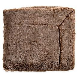 Surya Otso Throw Blanket in Camel/Cream