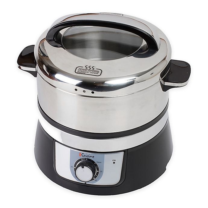 Alternate image 1 for Euro Cuisine® 3.2-Liter Stainless Steel Electric Food Steamer