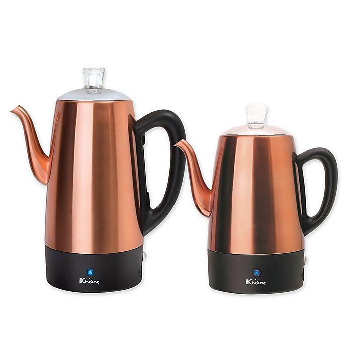 Alternate image 1 for Euro Cuisine® Electric Coffee Percolator in Copper