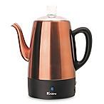 Euro Cuisine® 8-Cup Electric Coffee Percolator in Copper