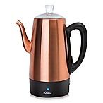 Euro Cuisine® 12-Cup Electric Coffee Percolator in Copper