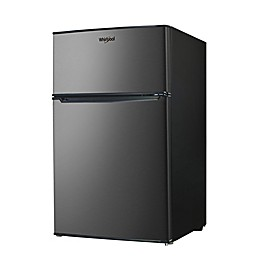 Whirlpool® 3.1 cu. ft. Dual Door Stainless Steel Mini Refrigerator