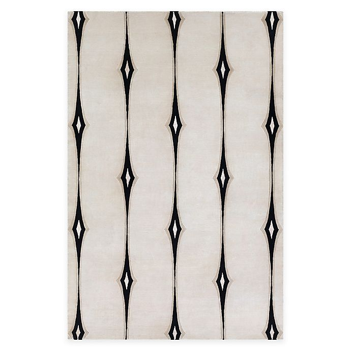 Alternate image 1 for Surya Luminous 9' x 13' Hand Knotted Area Rug in Ivory/Black