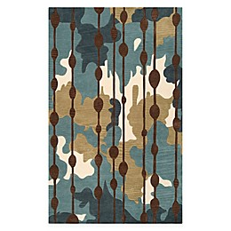 Surya Lava 2' x 3' Accent Rug in Blue/Green