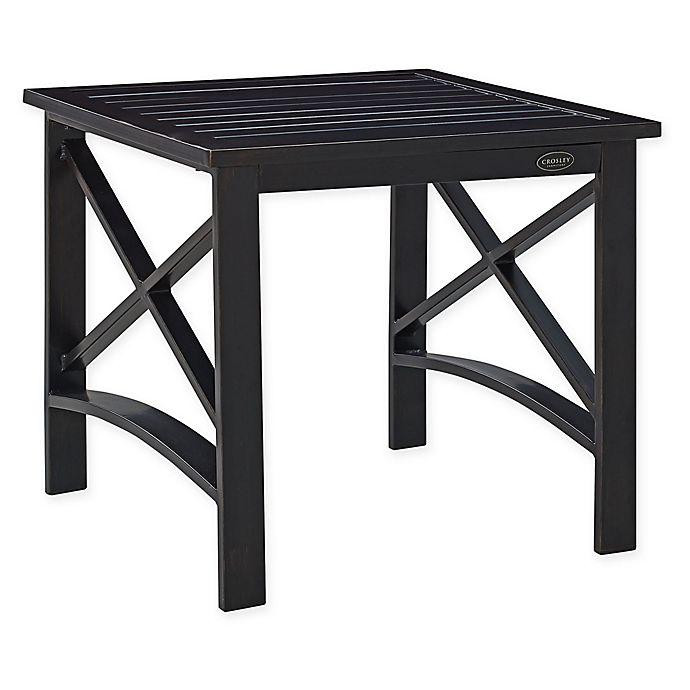 Alternate image 1 for Crosley Kaplan Outdoor Side Table in Oiled Bronze