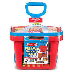 Melissa & Doug® Fill & Roll Grocery Basket Play Set
