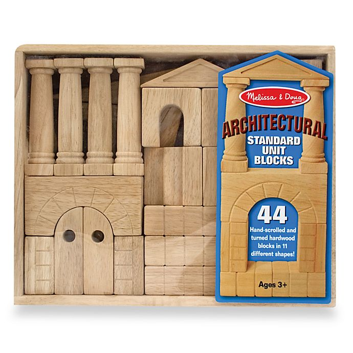 Alternate image 1 for Melissa and Doug® Architectural Standard Unit Wooden Blocks