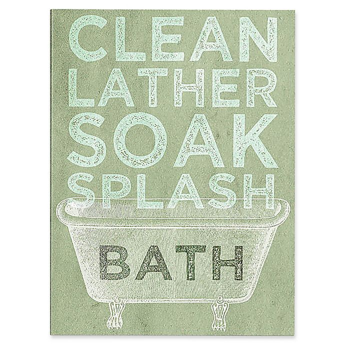 Alternate image 1 for Astra Art Clean Lather Green 16-Inch x 20-Inch Canvas Wall Art