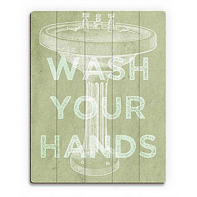 "Astra Art ""Wash Your Hands"" Wood Wall Art"