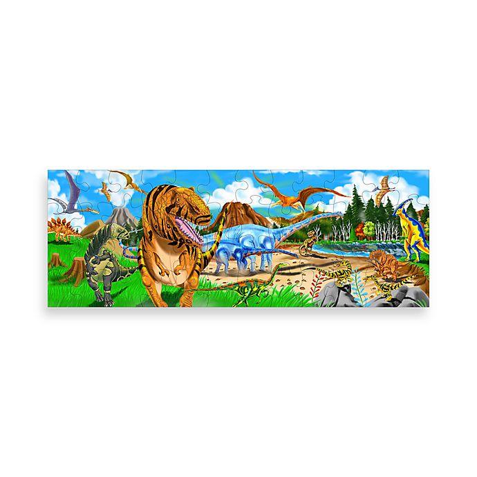 Alternate image 1 for Melissa and Doug® Dinosaur Floor Puzzle