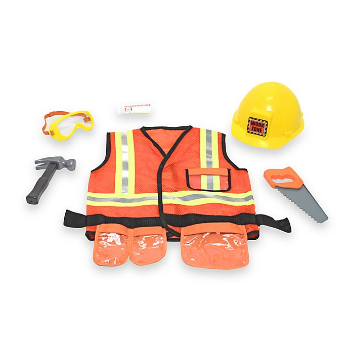 Alternate image 1 for Melissa & Doug® Construction Worker Role Play Costume Set