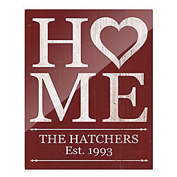Astra Art Heart Home Acrylic Wall Art in Red