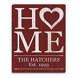 Astra Art Heart Home Wood Wall Art in Red