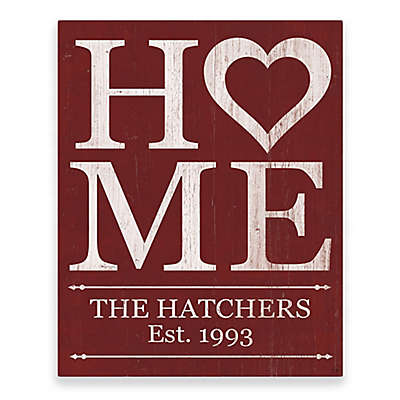 Astra Art Heart Home Metal Wall Art in Red