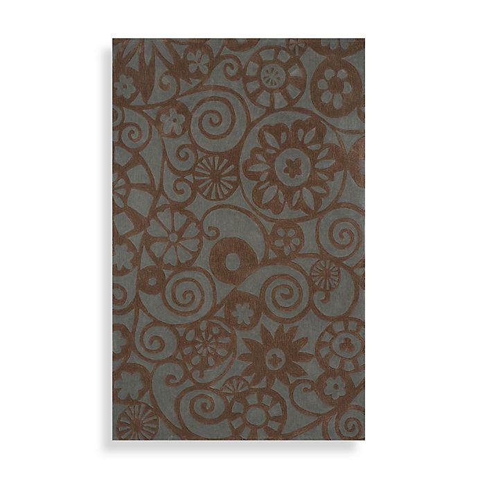 Momeni Bliss Area Rugs In Teal Bed Bath Amp Beyond