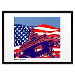 Daniel Furon's US Flag, Eiffel Tower 19-Inch x 25-Inch Wall Art