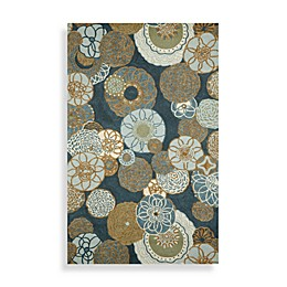 Ravella Disco Area Rugs in Denim
