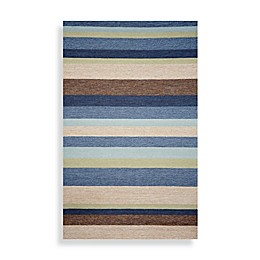 Ravella Stripe Denim Indoor/Outdoor Area Rug