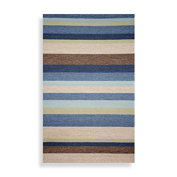 Alternate image 1 for Ravella Stripe 7-Foot 6-Inch x 9-Foot 6-Inch Area Rug in Denim