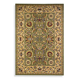 KAS Cambridge Kashan Area Rugs in Green/Taupe
