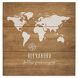 Cathy's Concepts Rustic World Map Wood Sign