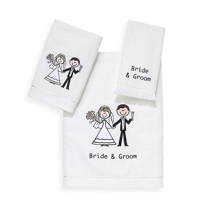 Alternate image 1 for Avanti Bride and Groom Bath Towel Collection