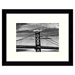 Amanti Art Benjamin Franklin Bridge 11-Inch x 9-Inch Framed Wall Art