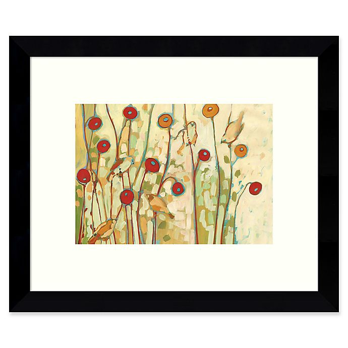 Alternate image 1 for Amanti Art Five Little Birds Playing 11-Inch x 9-Inch Framed Wall Art