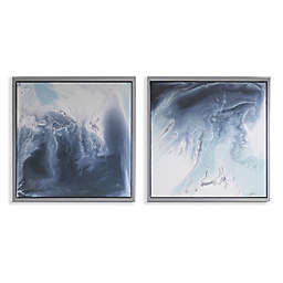 Madison Blue Lagoon 25.5-Inch x 25.5-Inch Framed Canvas Wall Art (Set of 2)