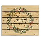 "Designs Direct ""Love Is Patient"" Wreath Wall Art"