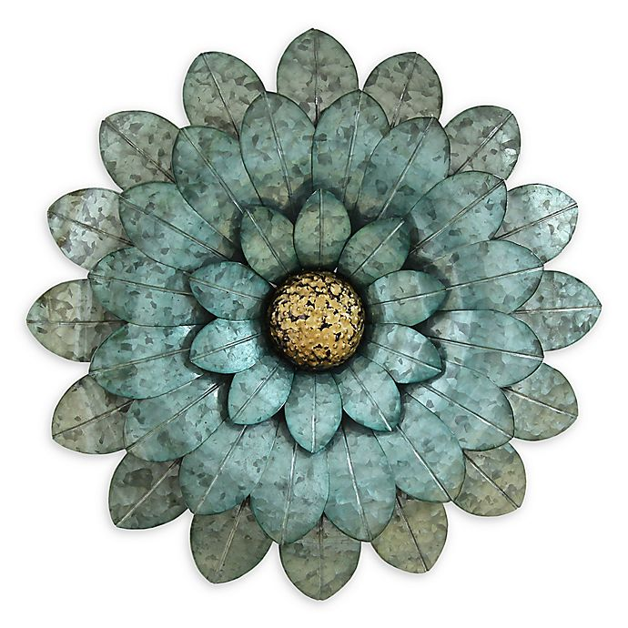 Alternate image 1 for Stratton Home Decor Morning Glory Flower Wall Sculpture in Blue