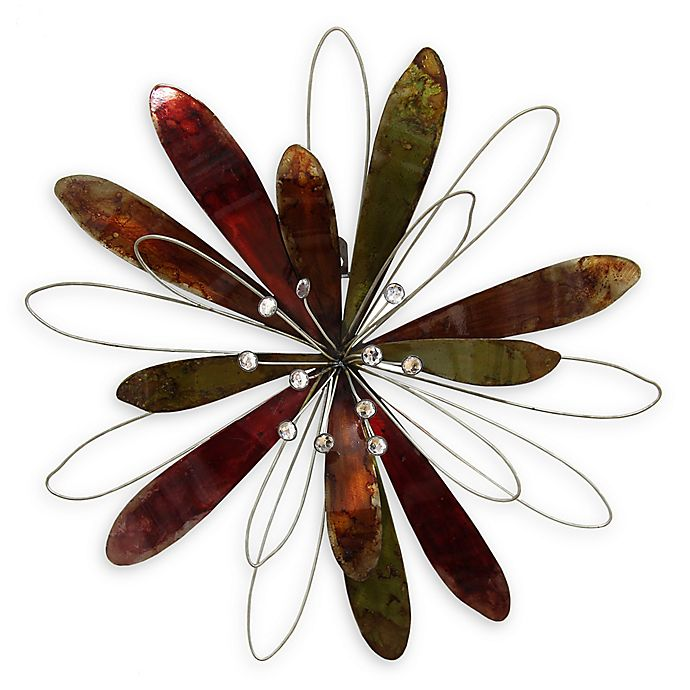 Alternate image 1 for Stratton Home Decor Whimsical Flower Burst Wall Art in Burgundy