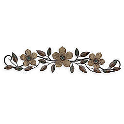 Stratton Home Decor Floral Over the Door 37.99-Inch x 8.86-Inch Wood Wall Art