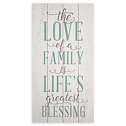 Stratton Home Decor The Love of Family 10-Inch x 20-Inch Wood Wall Art