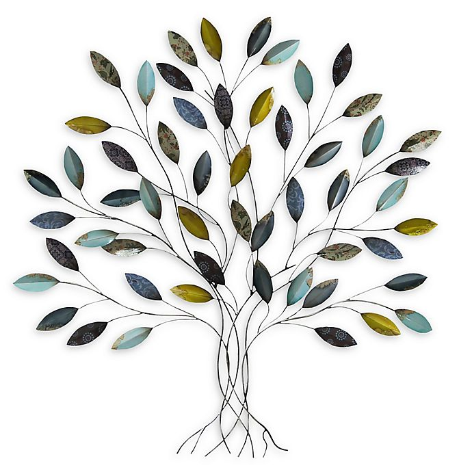 Alternate image 1 for Stratton Home Decor Tree 33-Inch x 36-Inch Metal Wall Art