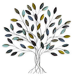 Stratton Home Decor Tree 33-Inch x 36-Inch Metal Wall Art