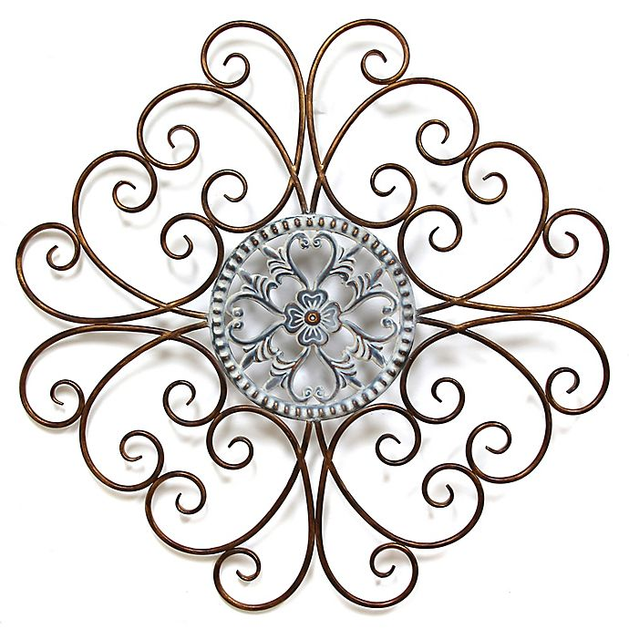 Alternate image 1 for Stratton Home Decor Scroll Medallion Wall Sculpture