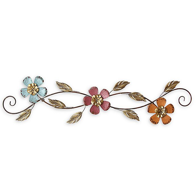 Alternate image 1 for Stratton Home Décor Floral Scroll 40-Inch x 10-Inch Wall Art