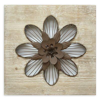 Stratton Home Decor Metal Flower Wall Art In White Bed Bath Beyond