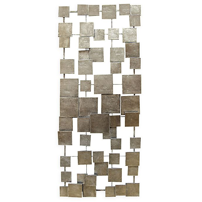 Alternate image 1 for Stratton Home Décor Geometric Tiles 14-Inch x 32.25-Inch Wall Art in Champagne