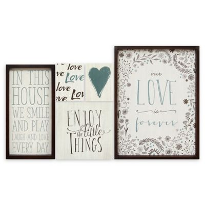 Stratton Home D Eacute Cor Love Is Forever Wall Art Set Of 5 Bed Bath Beyond
