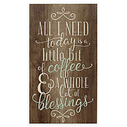 Stratton Home Décor Coffee and Blessings Wall Art in Brown