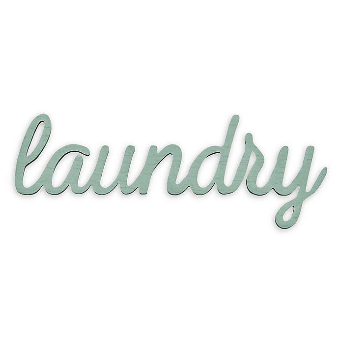 Alternate image 1 for Stratton Home Decor Laundry Wall Art in Teal