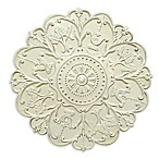Stratton Home Decor Shabby Medallion Wall Art in White