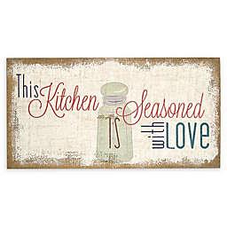 "Stratton Home Decor ""Seasoned With Love"" Burlap Wall Art"