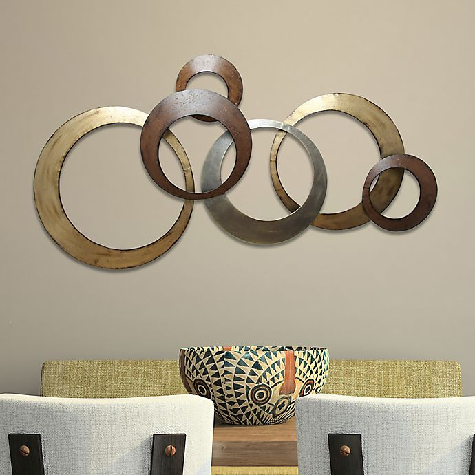 Alternate image 1 for Stratton Home Décor Metallic Rings Wall Art