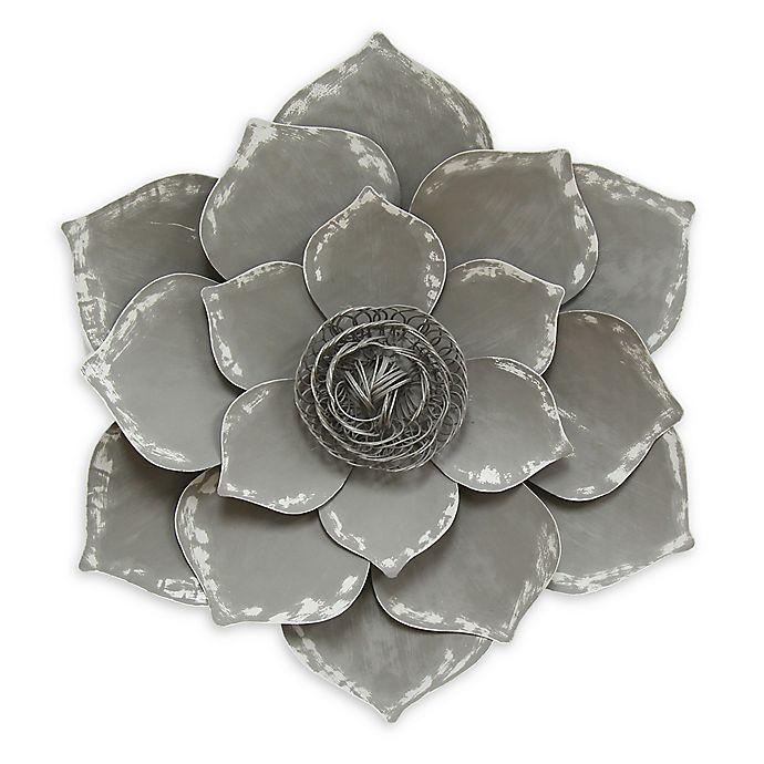 Stratton Home D Eacute Cor Lotus Wall Art In Grey Bed Bath Beyond