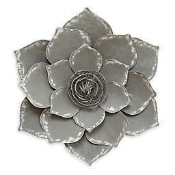 Stratton Home Décor Lotus Wall Art in Grey